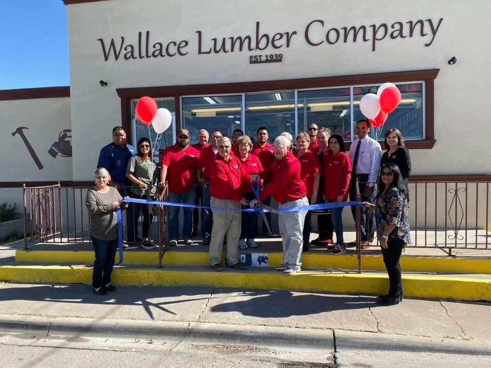 Wallace Lumber Company Ribbon Cutting while celebrating their 80th anniversary in 2019.