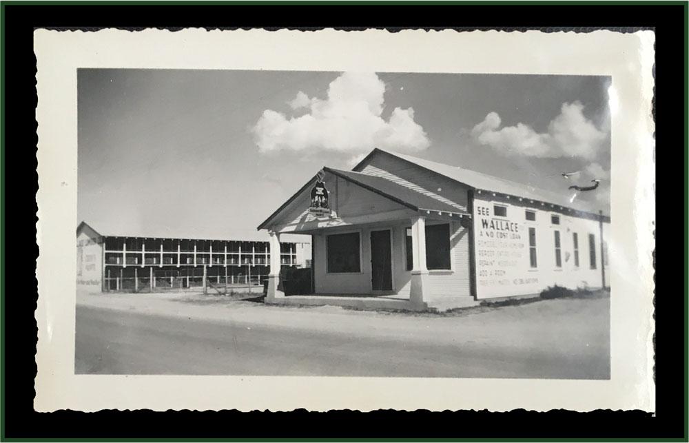 Wallace Lumber Company Storefront circa 1939