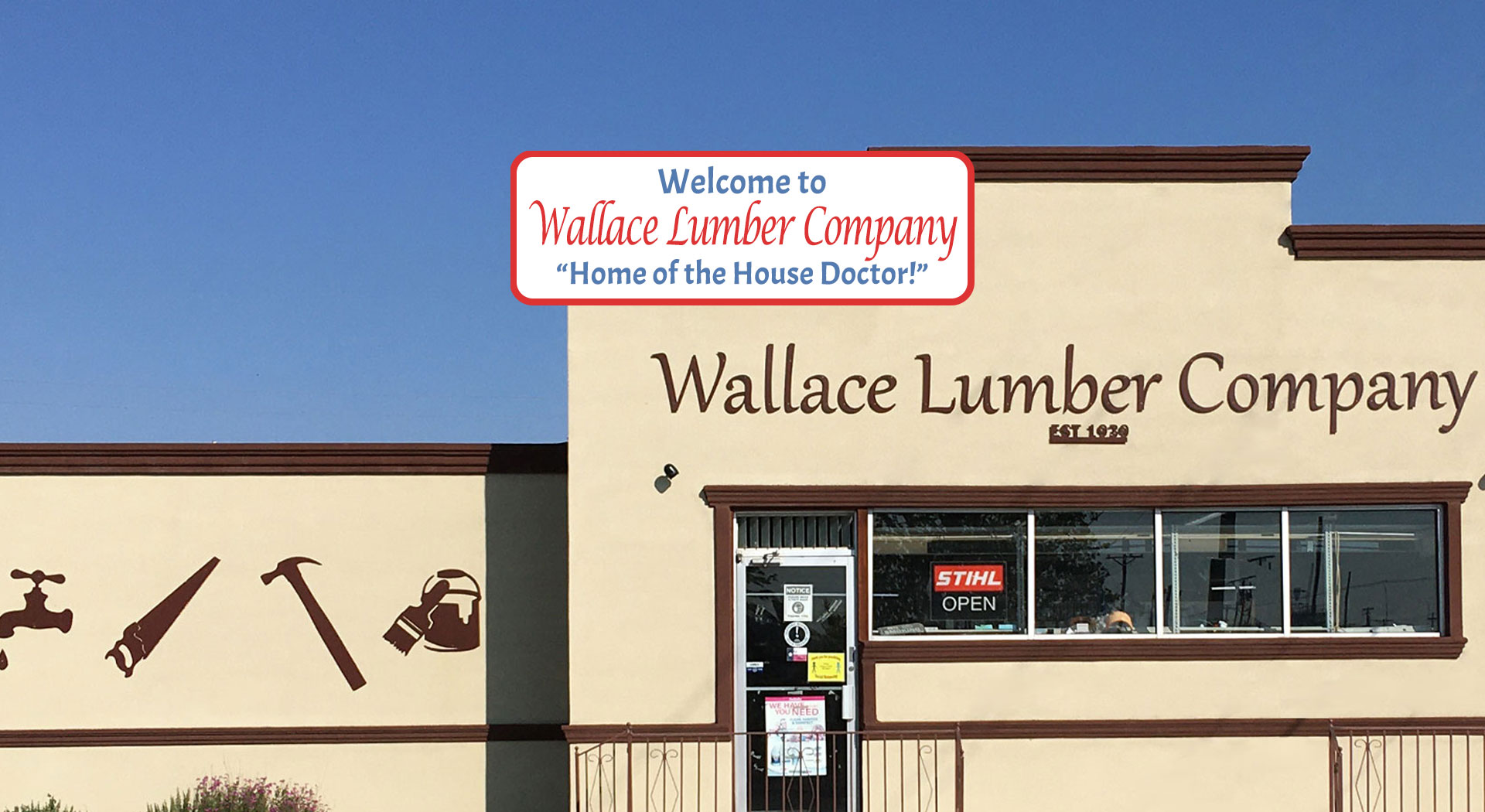 Wallace Lumber Company Storefront